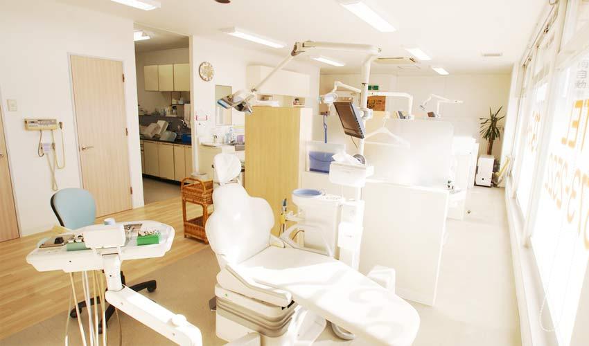 もなみ歯科 診療室内を含む写真