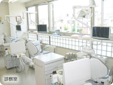 もりもと歯科 診療室内を含む写真